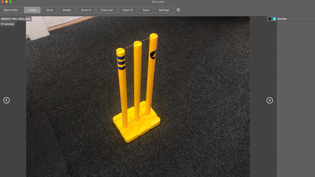 Cricket stumps render