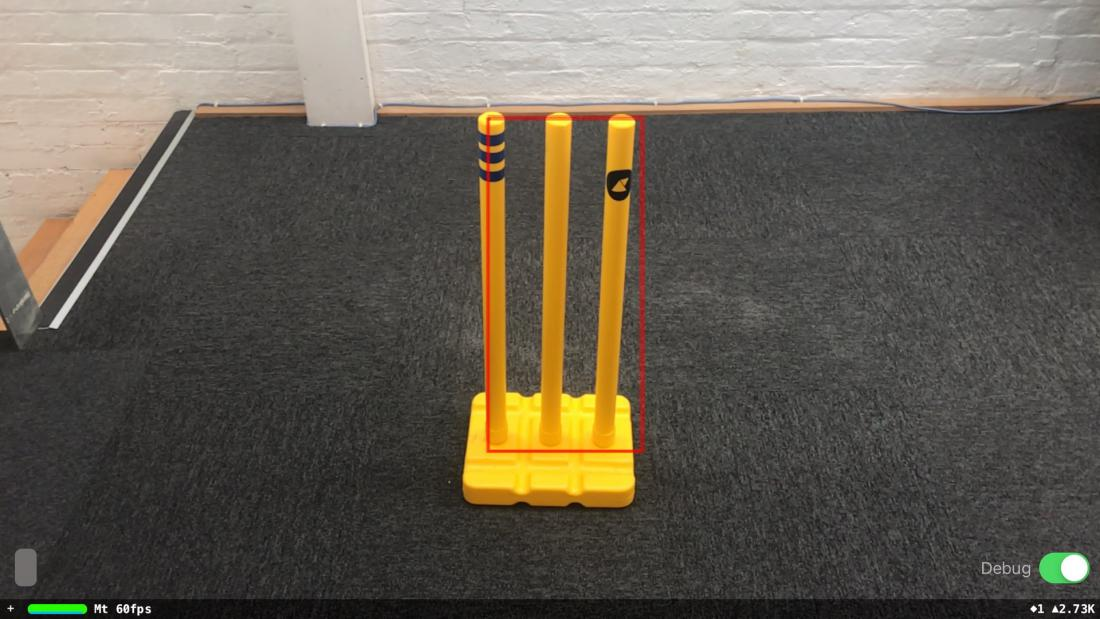 Render of cricket stumps